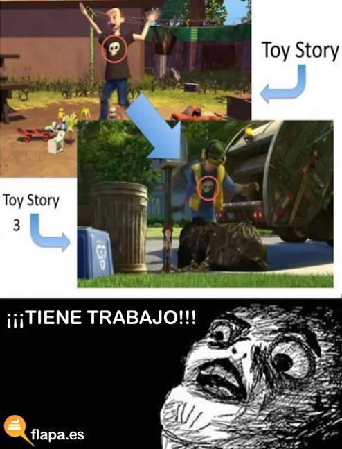 toy story, pelicula, pixar, disney, humor, viñeta, trabajo, zp cabron, camiseta, detalle, saga