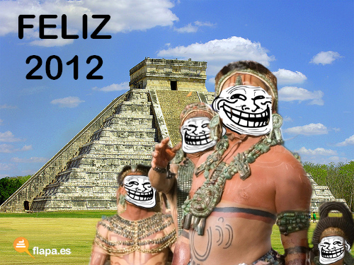 humor, viñeta, flapa, feliz 2012, calendario, maya, fin del mundo, funny