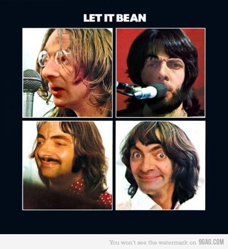 let it be, beatles, mr bean, viñeta, humor, montajes, pamplina, lennon, mccartney, ringo, george harrison
