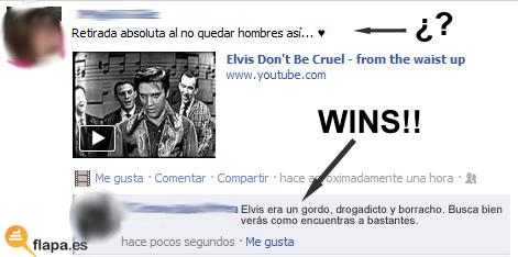 facebook, viñeta, humor, elvis, presley, musica, wins, hombres, mujeres, turutum chis