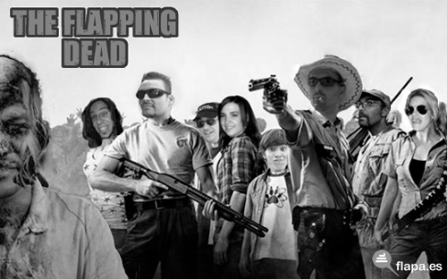 flapping dead, flaperos, walking dead