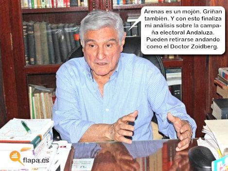 humor, viñeta, andalucía, 25 de marzo, elecciones andaluzas, política, flapa, funny,  arenas, griñan, analisis político
