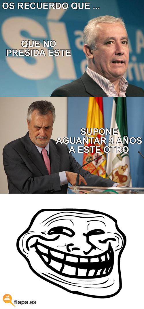 elecciones, andalucia, arenas, griñan, pp, psoe, viñeta, trollface, meme, ha ha
