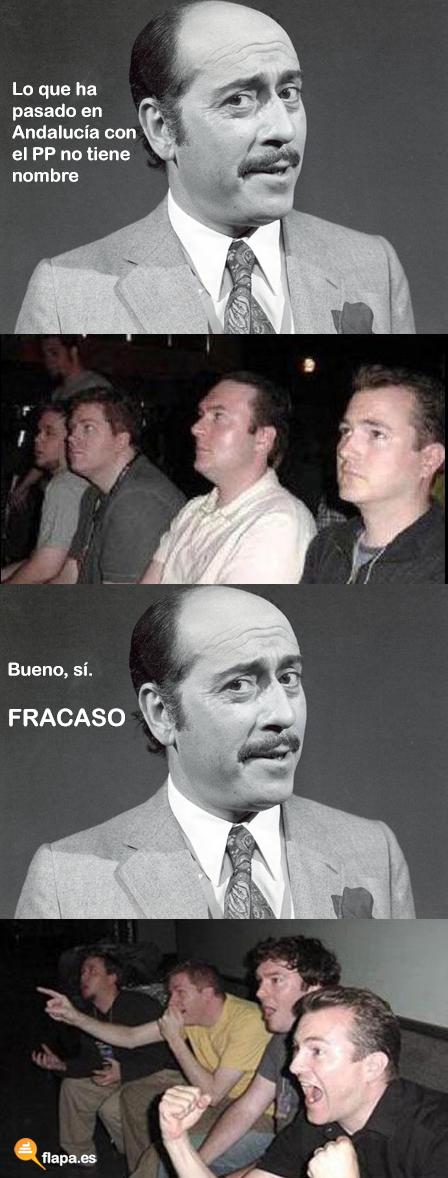 humor, viñeta, meme, flapa, reaction guys, jose luis lopez vazquez, pp, andaluzas, elecciones, arenas, griñán, iu, psoe