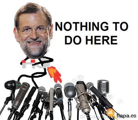 humor, viñeta, nothing to do here, presidente, españa, rajoy, cobarde, cobardía, má cobarderl quennota der chiste de chiquito, Rajoy se escaquea de mala manera