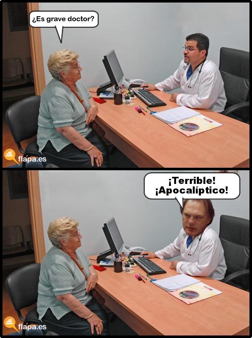 es grave doctor, doctor, medicina, viñeta, humor