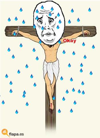 semana santa, lluvia, okay, meme, que te mojas cojones, que rulen los chubasqueros, viñeta, humor