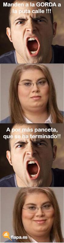 humor, flapa, funny, viñeta, la gorda, meme, gorda