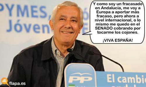 javier arenas, politica, viñeta, humor, pp, andalucia, politicos, crisis, a chupar cojones que tenemos 100.000 millones más para robar