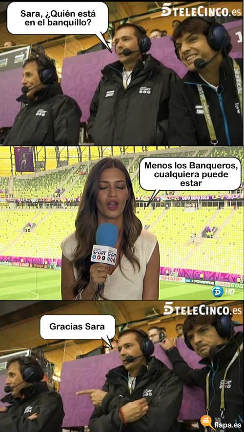 viñeta, humor, sara carbonero, gracias sara, eurocopa 2012, españa, futbol