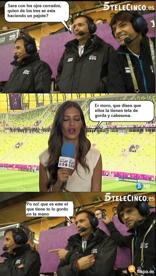 gracias sara, viñeta, humor, futbol, eurocopa 2012