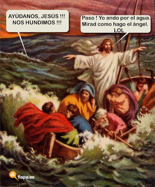 humor, viñeta, jesus, jesucristo, jesus lol, lol, flapa, funny, iglesia, religion