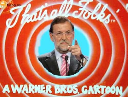 humor, viñeta, flapa, funny, that's all folks, warner bros, rajoy, politica, pp