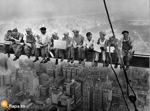 anacronismo, new york, worker, trabajadores, viñeta, humor