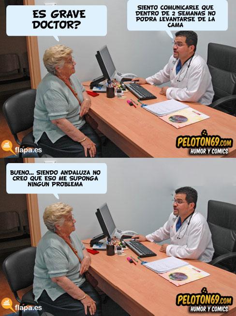 humor, viñeta, es grave doctor, flapa, funny, medicina