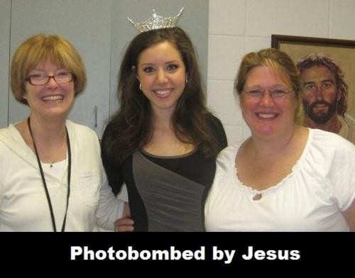 photobombed, jesus, viñeta, humor