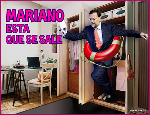 viñeta, humor, colaboracion, rajoy, politica, armario, pp, europa, crisis, rescate