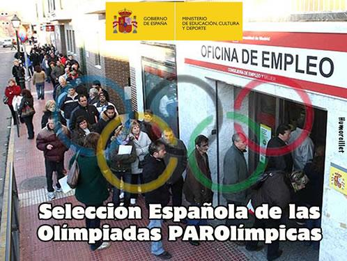 olimpiadas, paraolimpiadas, paro, empleo, españa, viñeta, humor, colaboracion mojonera, mohonera