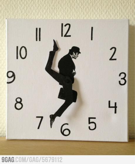 reloj, silly walks, silly clocks, viñeta, humor