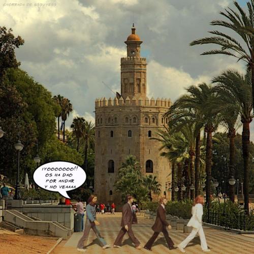imagen beatles torre oro sevilla