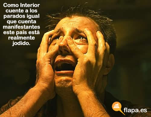huelga, º4N, viñeta, humor, horror, ministerio del interior, gobierno, pp, manifestantes, parado, crisis, QUÉ ASCO