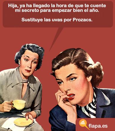 viñeta, humor, secretos de mujer, machismo, feminismo, feliz año nuevo, prozac
