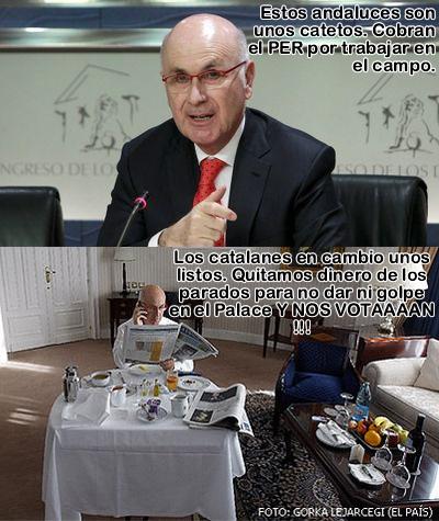 viñeta, humor, tan trincao con el carrito del helao, no dimito porque no me sale de mis santos cojones y punto en boca, da gusto ver la verdadera marca españa, Rajoy dimisión aunque no tengas nada que ver en esto, per, andaluces, catalanes