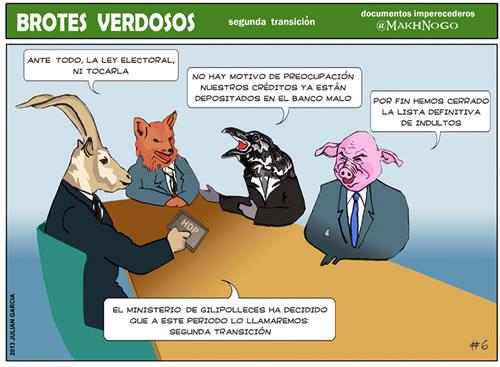 viñeta, humor, politica, bancos, banqueros, ley electoral, cerdos hijosdeputa, colaboracion mohonera, colaboración mojonera