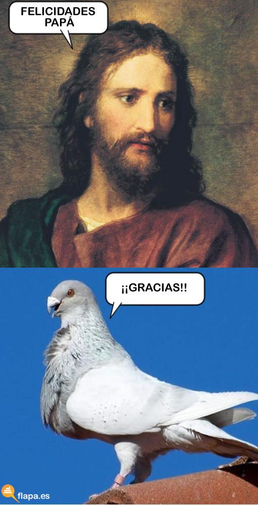 viñeta, humor, religion, jesus, dios, dia del padre, palomo cojo, water maricon, gaz maricon, ziko maricon, flapa grande, la cabra la cabra la puta de la cabra la madre que la parió