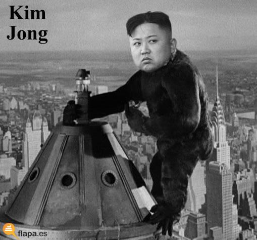viñeta, humor, esto no es humor, king kong, kim jong, corea, guerra, a tomar por culo todos