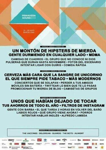 viñeta, humor, cartel, festival, hipster, rock, cerveza, barbas, THIS