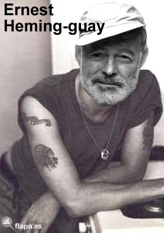 humor, viñeta, Ernest Hemingway, flapa, funny