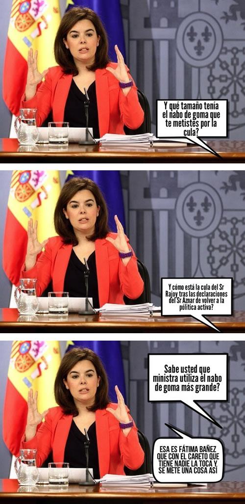 soraya saenz de santamaria, colaboracion mojonera, netbirra, mohonera, TARCARAHO NETBIRRA, viñeta, humor
