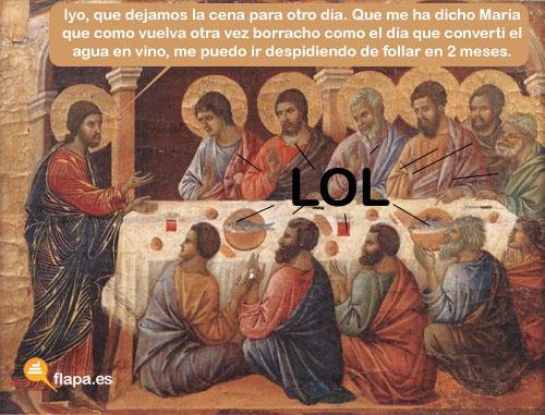humor, viñeta, flapa, funny, jesus lol, lol, jesus, cristianismo, iglesia, religión