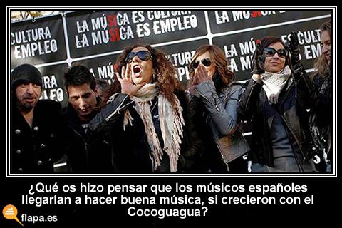 viñeta, humor, musica, musicos españoles, sgae, enrique y ana, cocoguagua, temaso