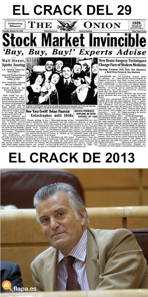 viñeta, humor, crack, economia, crisis, todos estamos en crisis menos el crack, bárcenas, política, corrupción, mariano maricón