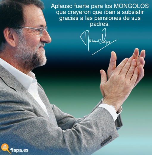 viñeta, humor, triste realidad, pensiones, rajoy, politica, crisis, yo me voy a caga en los muertos de Rajoy y en su puta madre en carsona