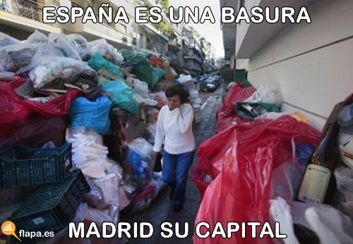 viñeta, humor, basura, huelga, madrid, españa es una basura y Water maricón, capital, ana botella